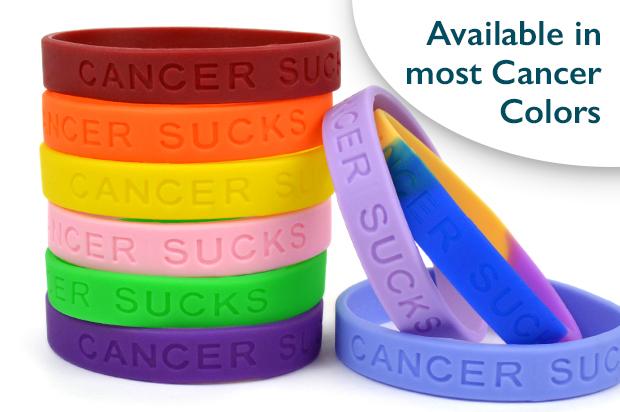 Cancer Sucks Wristband Choose Hope