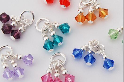 Cancer Awareness Charm W Triple Swarovski Crystals Choose Hope