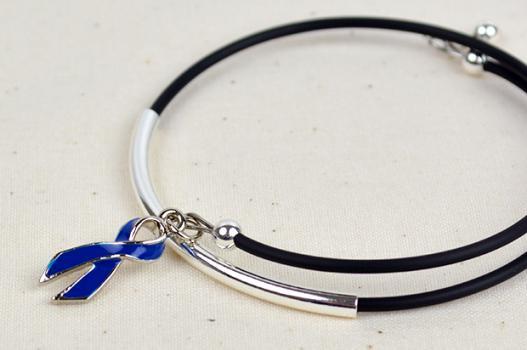 Inspire Awareness Wrap Bracelet W Ribbon Charm Choose Hope