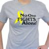 No One Fights Alone® T-shirt - Small, Yellow - Sarcoma/Bone Cancer
