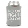 No One Fights Alone® Can Cooler - Grey - Brain Cancer