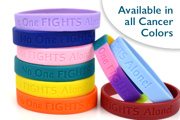 No One Fights Alone Wristband Choose Hope
