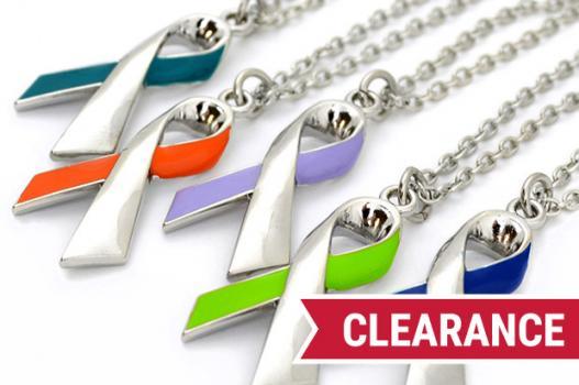 Cancer Awareness Ribbon Necklace Choose Hope