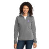 Cancer Awareness Ribbon Ladies Fleece - Small, Lavender – All Cancers