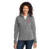 Cancer Awareness Ribbon Ladies Fleece - Small, Pink - Breast Cancer